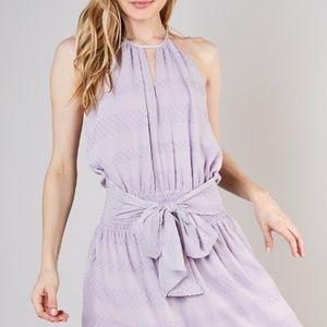 Blissful Eyelet Smocked Waist Dress - Wisteria